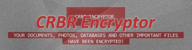 CRBR Encryptor 랜섬웨어 를 제거하고 복구툴