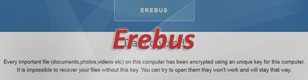 Erebus ransomware (나야나 리눅스 랜섬 웨어) 제거 및 해독