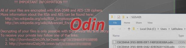 Odin 바이러스 랜섬웨어 복구툴:.odin 파일 해독