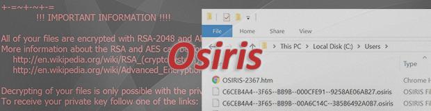 Osiris 랜섬웨어: .osiris 파일 바이러스 복구