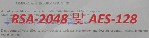 RSA-2048 and AES-128 ciphers: 랜섬웨어 복구